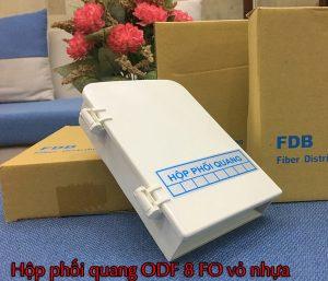 Hộp phối quang ODF 8FO vỏ nhựa chính hãng, giá rẻ