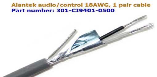 Cáp điều khiển Alantek 18AWG 1 Pair nhập khẩu chính hãng