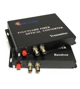 Converter video quang Gnetcom 2 kênh HL-2V-20T/R-1080P