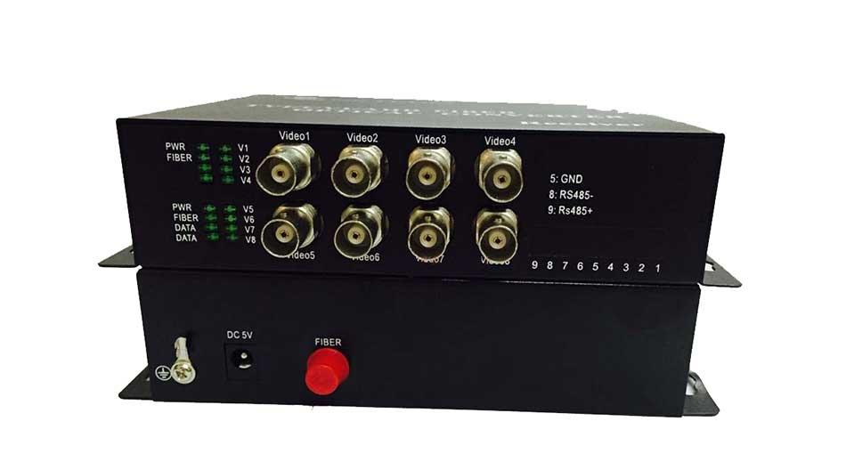 Converter video quang Gnetcom 8 kênh HL-8V-20T/R-1080P