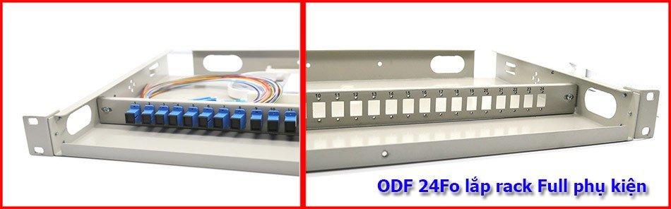 Hộp phối quang ODF 24fo lắp rack