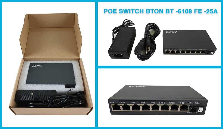 Switch mạng PoE 8 cổng BTON BT-6108FE-25A/B