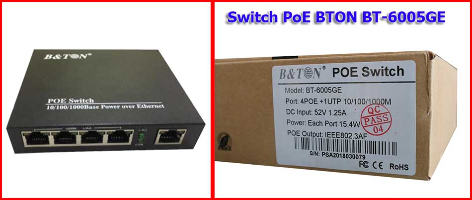 Switch mạng PoE BTON BT-6005GE