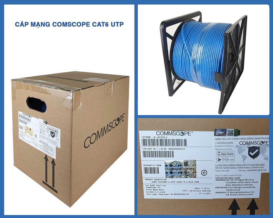 Cáp mạng Cat6 UTP Commscope 1427254-6