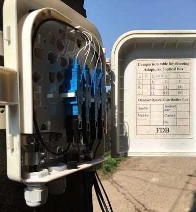 Hộp phối quang ngoài trời 12FO đầy đủ phụ kiện