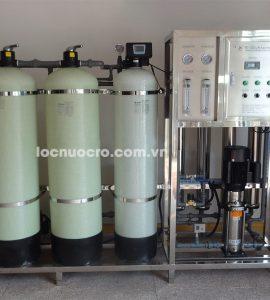 dây chuyền lọc nước tinh khiết công nghệ RO 1000l/h