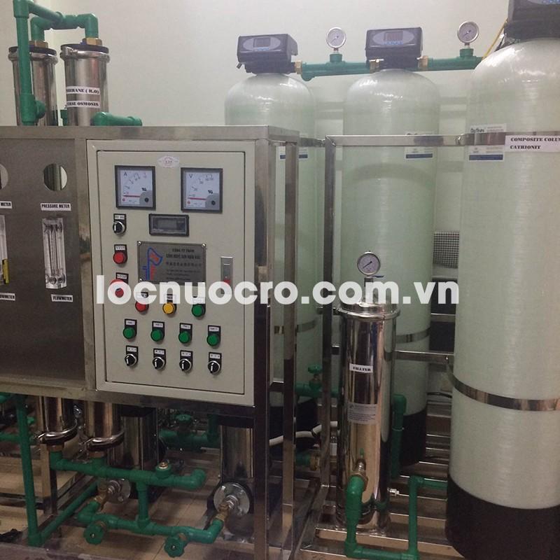 Dây chuyền lọc nước tinh khiết RO 500l/h (bơm chạy bơm nghỉ)