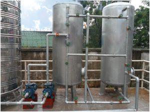 Dây chuyền xử lý nước giếng khoan công suất 7m3h