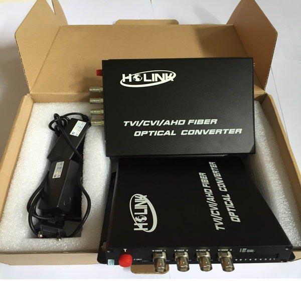Bộ chuyển đổi video sang quang 4 kênh 1080P 3.0MP | Ho-Link
