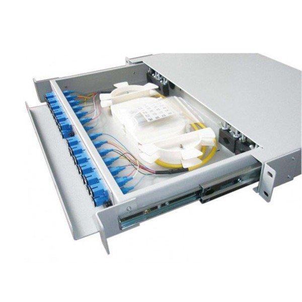 Hộp phối quang ODF 24FO trong nhà | Hộp phối quang lắp Rack đầu FC