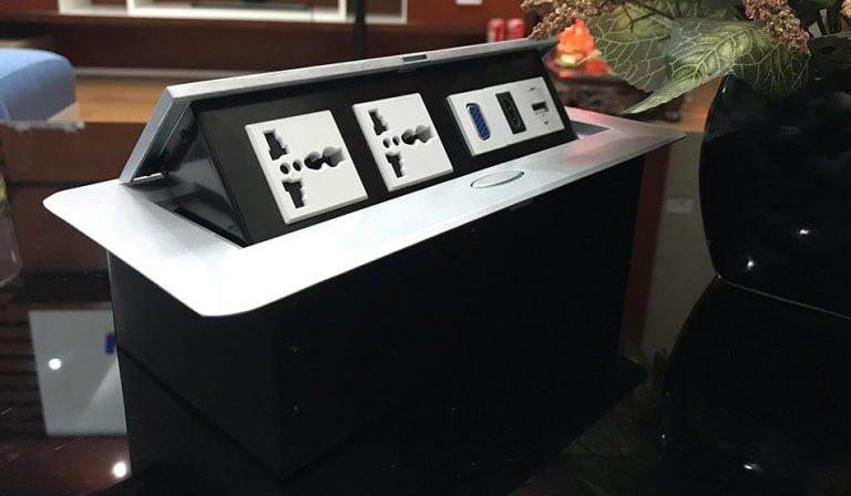 Ổ cắm điện âm bàn STS-201 chính hãng Sino Amigo