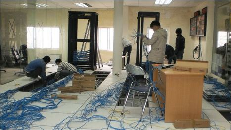 Thi công mạng LAN văn phòng, giải pháp LAN-QUANG giá rẻ tại Hà Nội