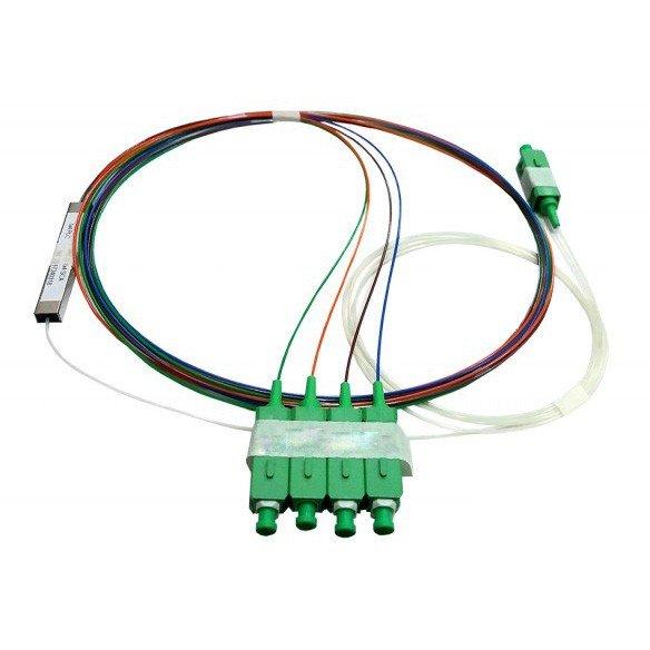 Bộ chia quang Splitter 1 ra 4 – Splitter PLC Mini Type 1×4