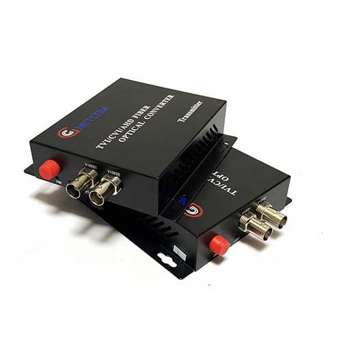 Bộ chuyển đổi video quang 2 kênh GnetCom HL-2V-20T/R-720P