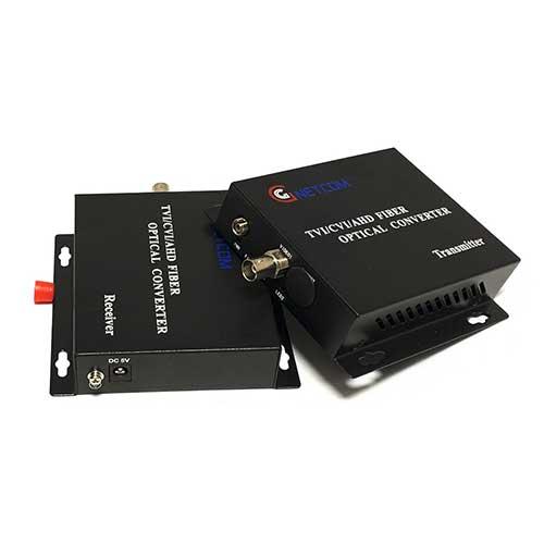 Bộ chuyển đổi Video sang quang 1 kênh GnetCom HL-1V-20T/R-720P