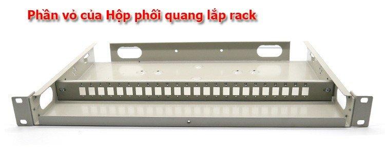 ODF 12Fo lắp rack sử dụng vỏ ODF 24Fo