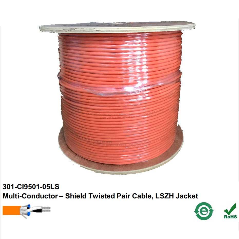 Cáp tín hiệu Alantek 16AWG 1 Pair chống cháy, chống nhiễu LSZH – P/N: 301-CI9501-05LS