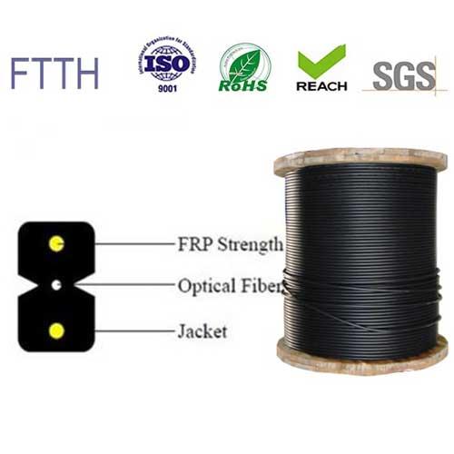 Cáp quang 1FO bọc chặt | Dây thuê bao quang 1 sợi – 1 core