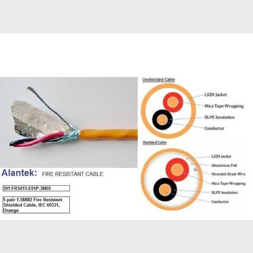 Cáp tín hiệu chống cháy 1x2x1.5mm2 LSZH chống nhiễu – P/N: 301-FRS015-E01P-3M05