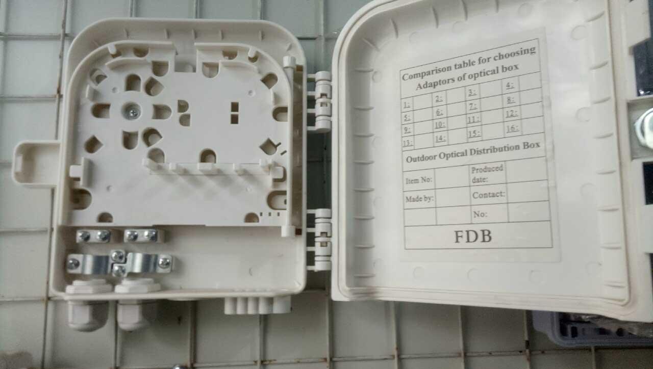 Hộp phối quang ngoài trời 4FO vỏ nhựa đầy đủ phụ kiện