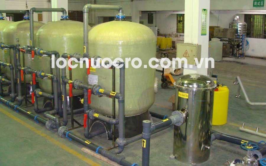 Dây chuyền lọc nước R.O công suất 4000L/H