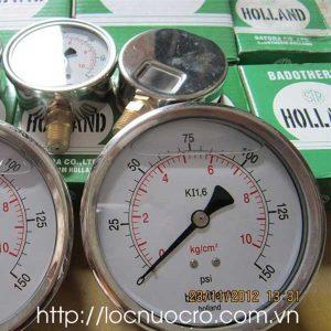 Thông tin cần biết về đồng hồ đo áp lực nước trong hệ thống lọc nước công nghiệp