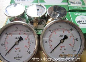 Đồng hồ đo áp lực dùng trong dây chuyền xử lý nước