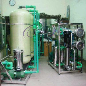 Dây chuyền lọc nước tinh khiết R.O công suất 1000L/H – Hệ thống lọc nước R.O 1000 Lít/giờ