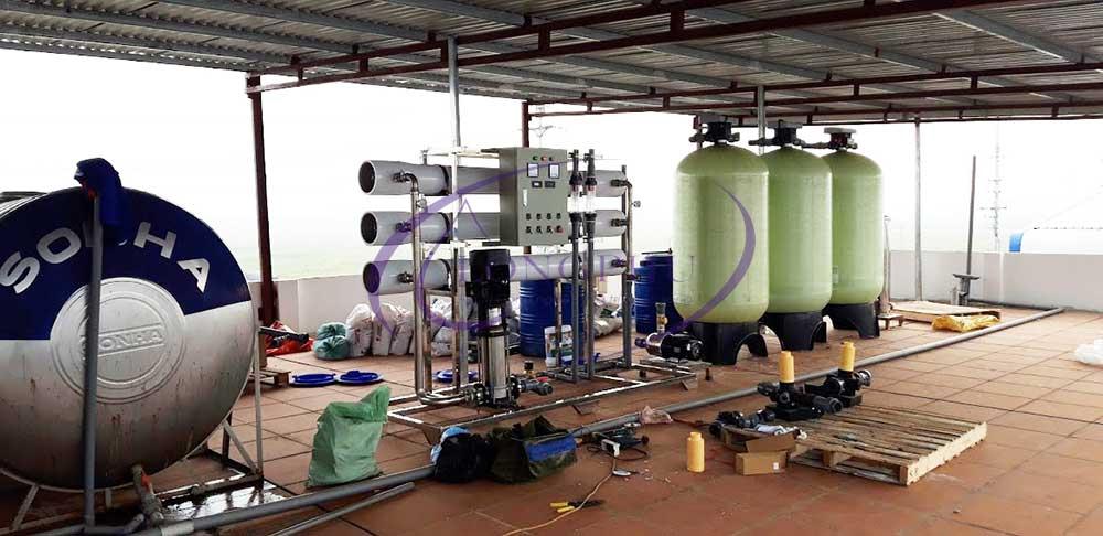 Lắp đặt hệ thống lọc nước R.O 2 cấp công suất 3000 Lít/giờ