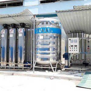 HỆ THỐNG XỬ LÝ NƯỚC TINH KHIẾT R.O 2 cấp 500 lít/h SẢN XUẤT DƯỢC PHẨM – tiêu chuẩn nước tinh khiết của GMP WHO