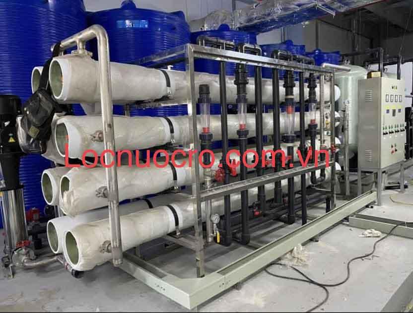Hệ thống xử lý nước tinh khiết RO 8m3/h cho sản xuất nhôm