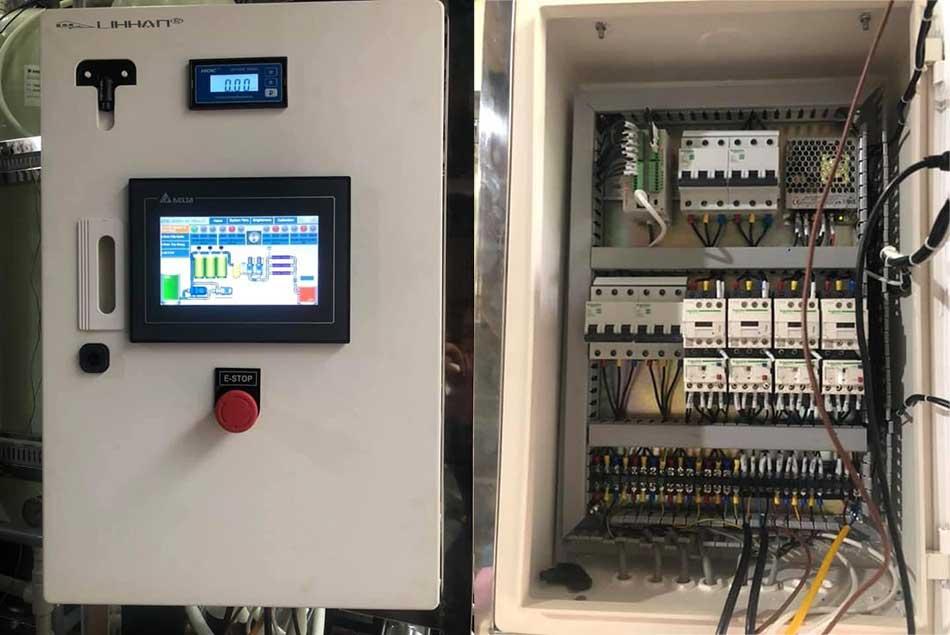 Hệ thống thủ điện điều khiển dây chuyền lọc nước DI Mixed bed