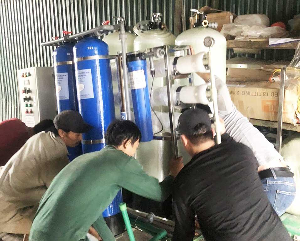 Hệ thống xử lý nước DI công suất 2000 lít/giờ