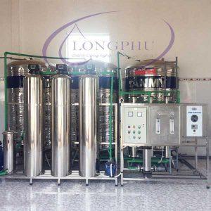 Hệ thống lọc nước tinh khiết RO 2 cấp công suất 1000 lít/giờ