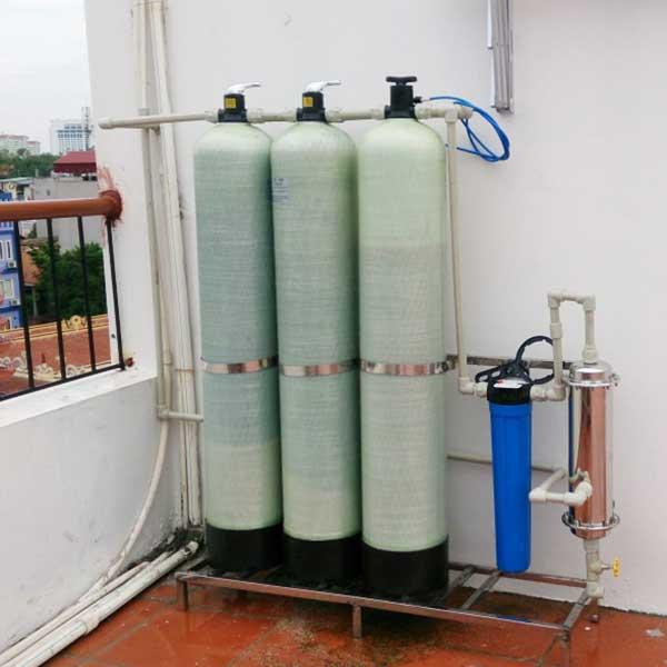 Hệ thống lọc nước sạch sinh hoạt 3 cột cho gia đình
