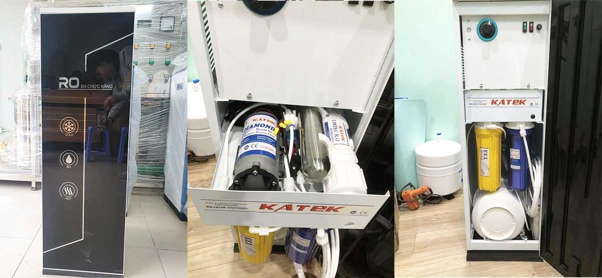 Máy lọc nước tinh khiết RO 3 vòi nóng lạnh 10l/h cho gia đình