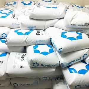 Hạt nhựa Cation C100 Purolite làm mềm nước cứng chất lượng cao