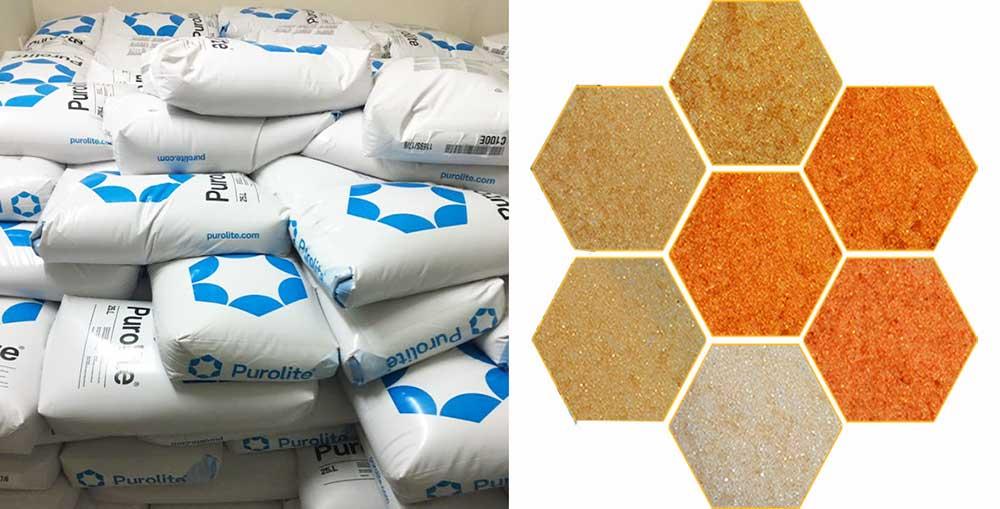 Hạt nhựa Cation Purolite C100 làm mềm nước cứng