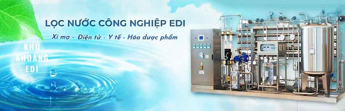 Banner hệ thống xử lý nước siêu tinh khiết EDI