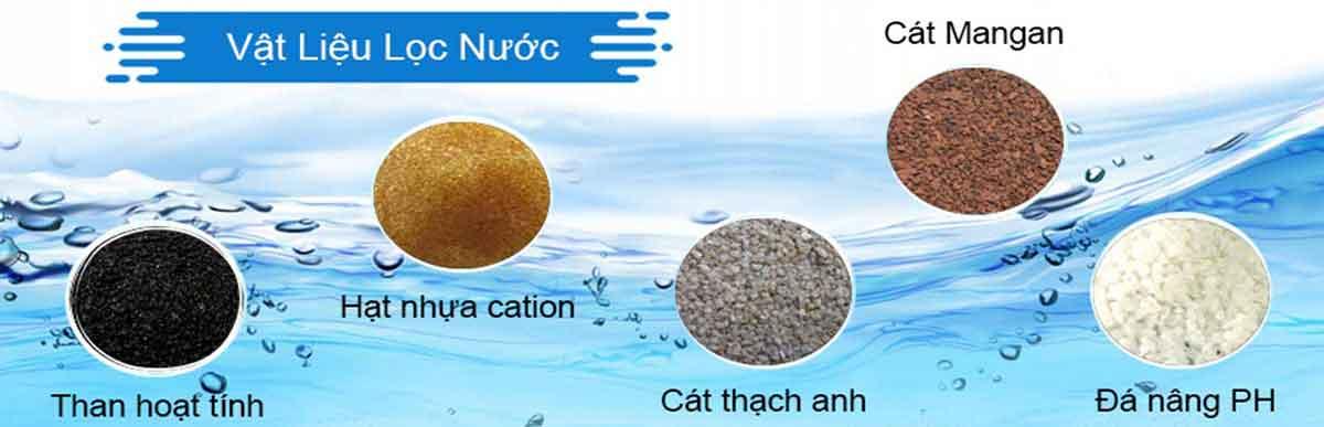 Vật liệu sử dụng trong hệ thống xử lý nước công nghiệp