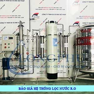 Bảng báo giá hệ thống lọc nước tinh khiết RO công nghiệp năm 2021 [Update]